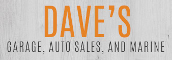 Daves Garage Auto Sales and Marine logo